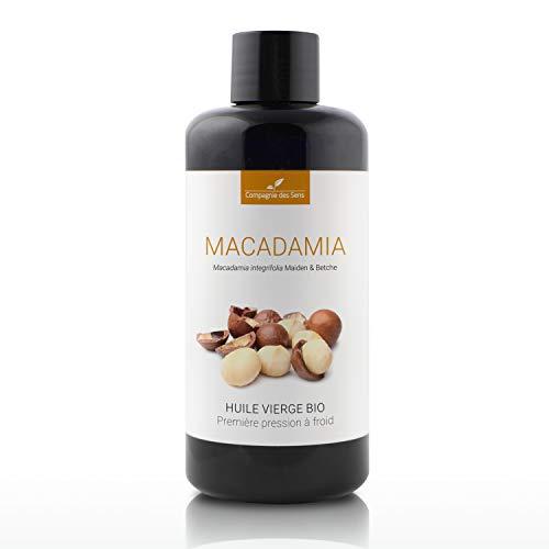 Macadamia - Huile Végétale Vierge BIO - Flacon en verre - Première pression à froid - 200mL