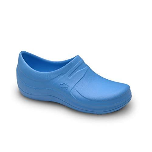 Feliz Caminar - Gesundheitsschuhe für Nebel/mit rutschfestem Riemen, bequem/anatomisch/Küche, Gesundheit, Gastronomie., Blau - blau - Größe: 39 EU