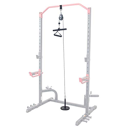 Sunny Health amp Fitness LAT Pull Down Attachment for Power Racks and Cages  SFXFA006