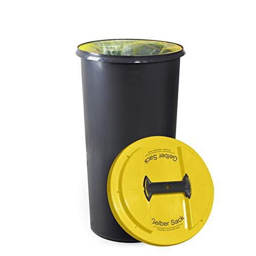 KUEFA BSC6 LA - 60L Mülleimer/Müllsackständer/Gelber Sack Ständer (Gelb, Gelber Sack)