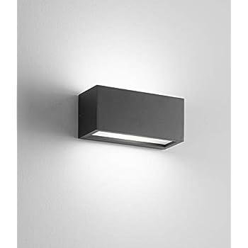 CONNECTION 2 Alluminio Applique lampada parete esterno moderna rettangolare bass