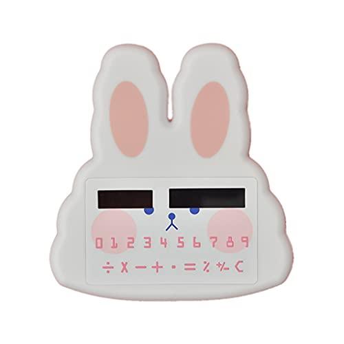 LEGU Calculadoras Básicas Mini Calculadora De Dinosaurios Calculadora De 8 Dígitos Calculadora De Escritorio Tipo De Tarjeta Calculadoras De Examen Calculadoras (Color : Rabbit-White)