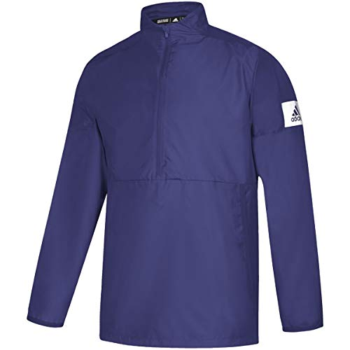 adidas Game Mode Long Sleeve Quarter-Zip Jacket - Men's Multi-Sport XXXL Collegiate Purple/White