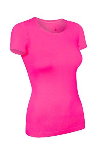 Assoluta Damen T-Shirt kurzarm, Größe M, neon pink