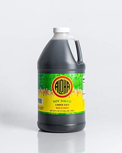 1/2 gal Aloha Shoyu Low Sodium Soy Sauce (pack of 2)