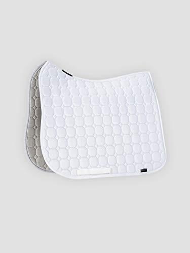 Equiline Schabracke Octagon, Baumwollschabracke Form Dressur lang, Farbe weiß