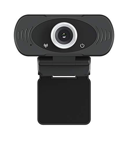 IMILAB Webcam 1080P Full HD con Coperchio Treppiede Microfono, Video Call Web Cam Plug and Play per PC Laptop Notebook Web Camera Compatibile con Windows Mac Android, Nero