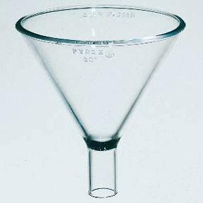 Funnel, Short stem, Glass - 100 mm. [ 1 Ea.]