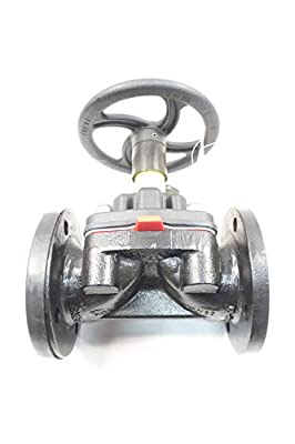 SAUNDERS 3449 Manual Iron FLANGED Diaphragm Valve 3IN 150 by SAUNDERS