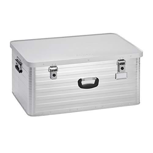 Enders Alubox 130 Liter + Schloss Set, hochwertig verarbeitet, mit Moosgummidichtung, Alukiste flexibel verwendbar als Transportbox und Lagerbox - Alukoffer Lagerkisten Metallkiste Metallbox Aluboxen Alukisten