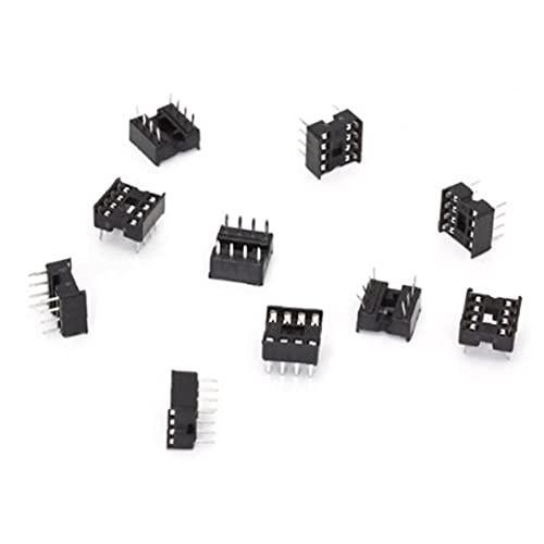 Conectores IC 10 Piezas de Soldadura Profesional Tipo de 8 Pines Dip Circuito Integrado Adaptador Hembra IC