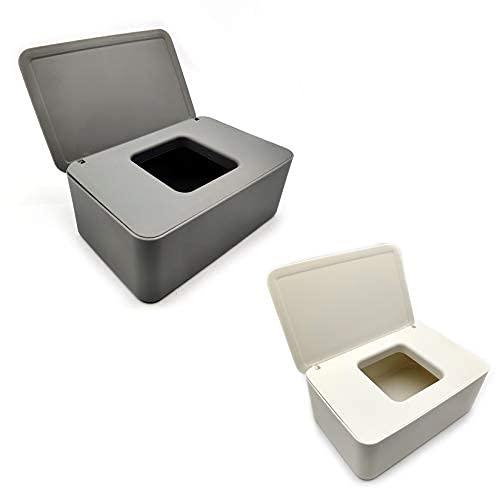 2 cajas de pañuelos de papel, dispensador de toallitas húmedas, soporte para cajas de toallitas húmedas, caja