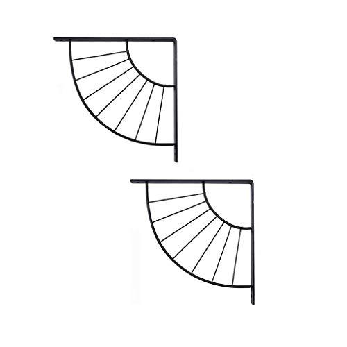 2 Pezzi Parete Reggimensole Staffe per Mensola in Acciaio al Carbonio Forma di Ombrello Staffa Angolare Staffe Mensole Stile Nordico Accessori da Regalare (Nero/Dorato)