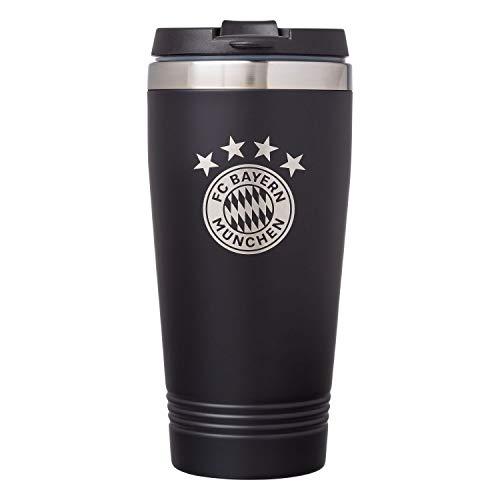 FC Bayern München Thermobecher, Kaffee Becher, Isolierbecher, Mug Coffee to go - Plus Lesezeichen I Love München