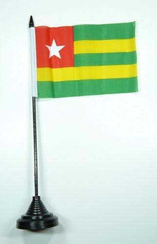 Tischflagge Togo Flagge Fahne 10 x 15 cm FLAGGENMAE® Tischfahne