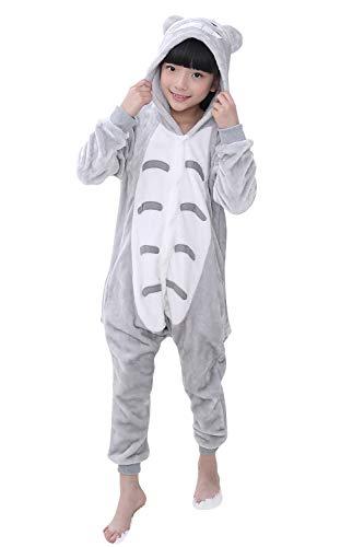 YAOMEI Kinder Unisex Jumpsuits, 2018 Kostüm Tier Onesie Nachthemd Schlafanzug Kapuzenpullover Nachtwäsche Cosplay Kigurum Fastnachtskostuem Weihnachten Halloween (120-130CM(47''-51''), Totoro)