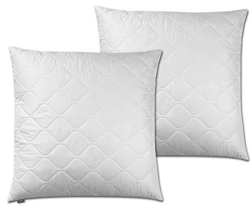 Traumnacht 3-Star - Cuscino morbido e confortevole, in morbida microfibra, lavabile, colore: Bianco, bianco, 60 x 60 cm