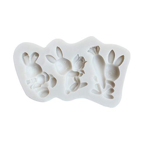 Ostern-Silikonform, Karotte Des Kaninchen-3D, Kuchenform, Ostern-Gummi-Antihaftform, Kuchendekoration Von R-WEICHONG