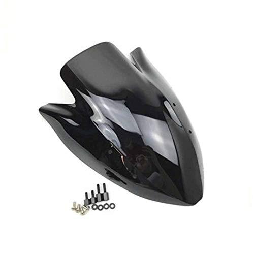 Spoiler Motorrad Windschutzscheibe Fit For Kawasaki Z1000 Z 1000 2003 2004 2005 2006 Double Bubble Windschutzscheibe Windabweiser Z1000 03 04 05 06 (Color : Black)