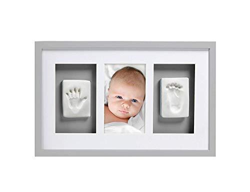 Neugeborene Baby Handabdruck und Footprint Deluxe Wand Fotorahmen & Impression Kit - Macht eine perfekte