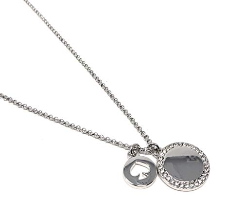 Kate Spade New York Clear Silver Plated Spot The Spade Charm Pendant Necklace