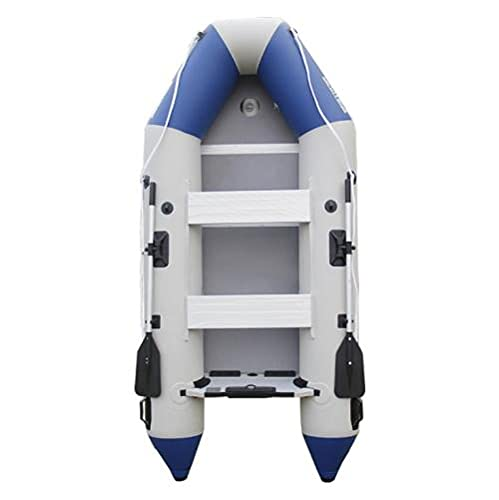 Fnho Canotto Gonfiabile PVC Resistente,Gommone Gonfiabile Barca a Remi,Colpo Spesso, Barca da Pesca in gommone in PVC - Pavimento in Lega di Alluminio A_300 x 136 cm