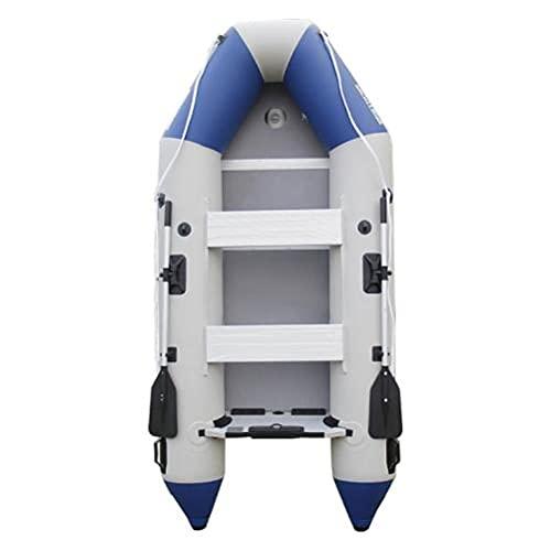 Fnho Bote Inflable Balsa de,Engrosado Bote Inflable de,Tiro Grueso, Bote de Goma de PVC, Bote de Pesca, Piso de aleación de Aluminio A_330 x 136cm