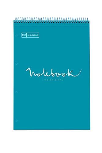 Miquelrius 46087 Cuaderno A4 Cartón Emotions Reporter Azul Formentera espiral superior