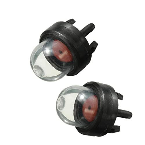 Odoukey Burbuja Mini carburador Aceite Bulbo Gasolina Snap cebador de Combustible de la Bomba Kit para la Cobertura Productos para el Hogar Trimmer cortadora de césped Motosierra Accesorios 2 Piezas