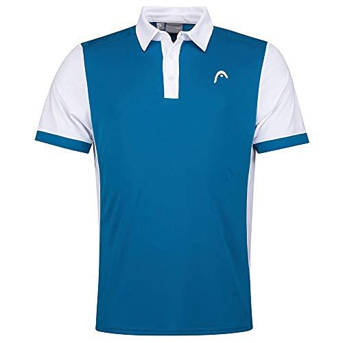 Head Davies Polo Shirt Men Camisa, Azul y Blanco, M para Hombre