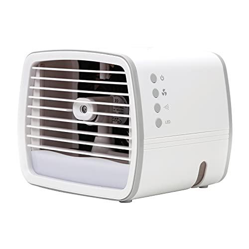 Zuoox Ventilador de refrigeración de aire acondicionado de escritorio con iluminación LED