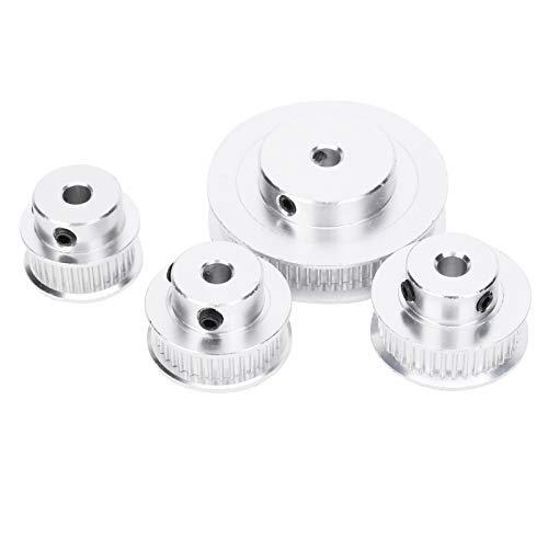 Correa de distribución interior de 5 mm Rueda síncrona 60 dientes Aluminio Blanco para impresora 3D