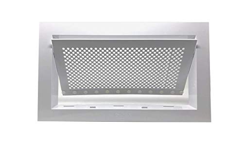 Freedom Flood Vent - Bi-Directional Flood Vent to Reduce Foundation Damage and Flood Risk, FEMA Compliant, ICC-ES Certified for 250 sq. ft. - White, Wall Mounted (16' Wide x 8' high x 2' deep)