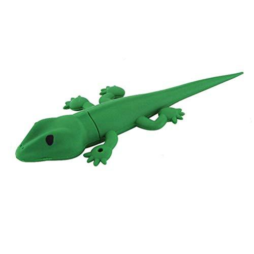 Novità e cute Animal Series lucertola forma USB 2.0Flash Drive memory stick divertente Pen Drive Jump Drive U disk regalo (verde)
