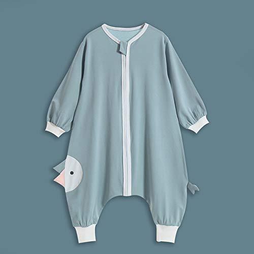 HELIn Babyslaapzak - Unisex Baby Safe Sleep zomer lente herfst Toepassen op 0-6 jaar draagbare biologische katoenen slaapzak (Color : Green, Size : 100)