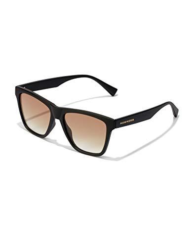HAWKERS One LS Eco Gafas de sol, Negro/Marrón degradado, Talla única Unisex Adulto
