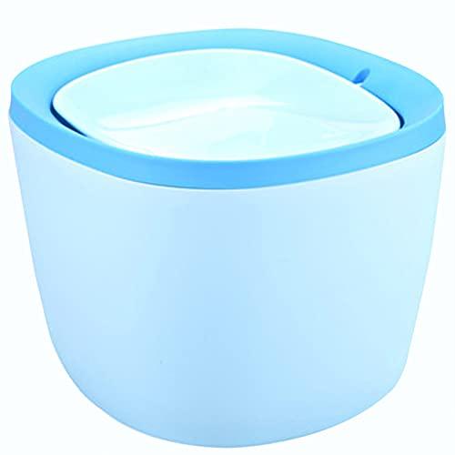 SHENGYUAN 2 Piezas Bote de Basura 11.5x12x15cm Mini Basura con Tapa abatible para Cocina, Oficina, baño, plástico,Azul