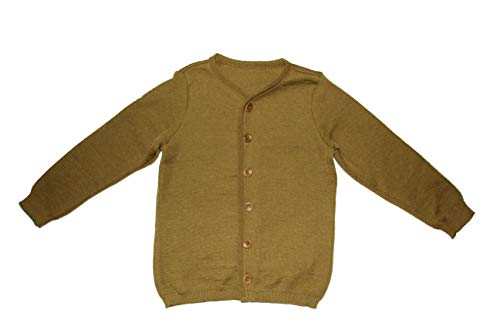 Disana Strickjacke Cardigan 100% Bio-Mernio-Schurwolle (Gold, 134/140)