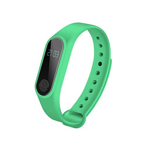 ZGYQGOO Intelligentes Armband, Sport wasserdicht IP68 Silikonuhr mit Herzfrequenz Bluetooth Schrittzähler Sportarmband, grün