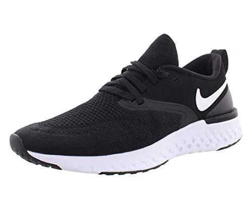 Nike Damen Odyssey React Flyknit 2 Laufschuhe, Schwarz (Black/White 010), 39 EU