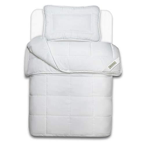 MYNE Kinderbetten Set Smoothly 2-teilig - 4-Jahreszeiten Kinderbettdecke 100x135 cm und Kopfkissen 40x60 cm - Kindersteppbett und Kissen - Bettdecken Set für Kinder - Öko-Tex 100