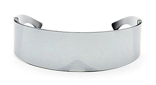 Futuristic Wrap Around Monoblock Cyclops Shield Sunglasses