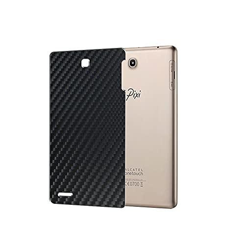 VacFun 2 Piezas Protector de pantalla Posterior, compatible con Alcatel OneTouch Pixi 3 (8), Película de Trasera de Fibra de carbono negra Skin Piel