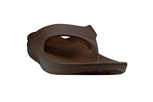 Telic Damen Fashion Flip Flop Sandale (Made in USA) (7 B(M) US, Espresso Brown)