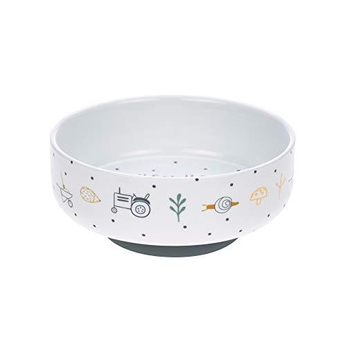 LÄSSIG Schüssel Porzellan Schälchen Kinderschüssel mit Silikonring rutschfest Kindergeschirr/ Garden Explorer boys
