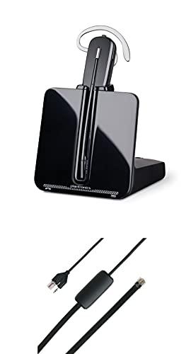 Plantronics CS540 Kabelloses DECT-Headset mit APS-11- Einohr (Mono), veränderbar (3 Tragevarianten) - Anschluss an Tischtelefon - Mikrofon mit Geräuschunterdrückung