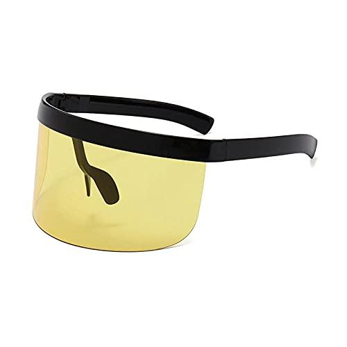 Gafas De Sol Hombre Mujeres Ciclismo Gafas De Sol Sin Montura para Mujer Al Aire Libre Gafas Deportivas Gafas De Sol para Hombre Gafas De Sol-Black_Yellow