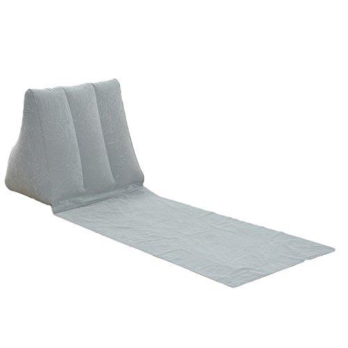 Esterilla Camping,Esterilla Hinchable Camping plegable alfombra inflable de la playa de la colilla de la playa de la playa suave del triángulo del triángulo Camping del ocio almohada de la silla del c