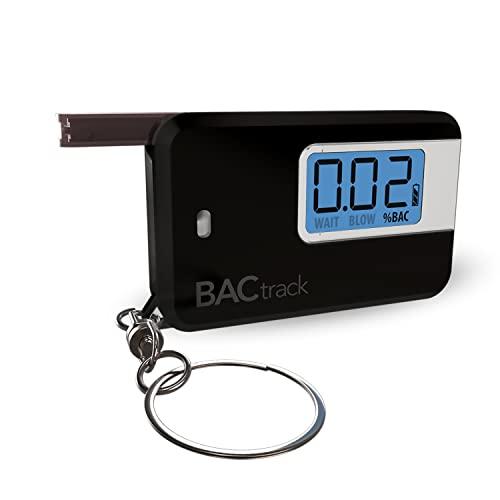 BACtrack Go Keychain Breathalyzer (Black) | Ultra-Portable Pocket Keyring Alcohol Tester for Personal Use
