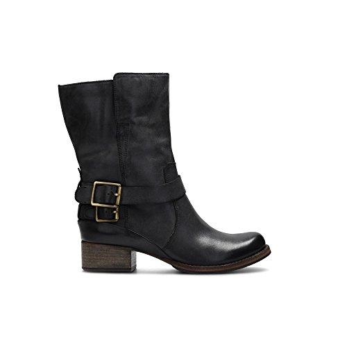 Clarks Damen Monica Soul Biker Boots, Grau (Dark Grey Leather), 39 EU